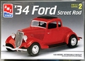 AMT 1934 Ford 5 Window Coupe Street Rod