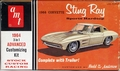 """AMT 1964 Corvette Sting Ray Fastback Coupe with Single-Axle Trailer, 3 in 1, Stock, Racing, or Budd """"The Kat"""" Anderson Custom"""