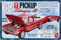 AMT 1962 Ford F-100 Longbed Pickup with Single Axle Car Trailer, 3 in 1, Stock, Custom or Service Truck