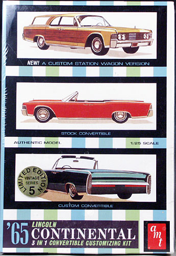AMT 1965 Lincoln Continental Convertible Stock Custom Or Station Wagon