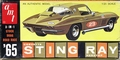 AMT 1965 Corvette Sting Ray Fastback, 3 in 1, Stock, Drag, or Road Racing