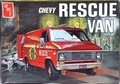 AMT 1971 Chevy Window Van or Panel Van � Stock, Fire Rescue Van, Police, or Custom