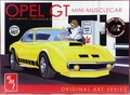 "AMT 1972 Opel GT, Stock, Fuel Injected Gasser, or ""Mini-Musclecar,"" Molded in White"