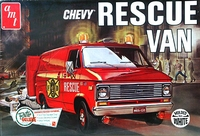 AMT 1975 Chevy Panel Rescue Van - Stock, Custom, Police or Fire Rescue - White