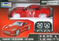 Revell 2014 Corvette Stingray Coupe with Engine, Pre-Decorated High-Gloss Red