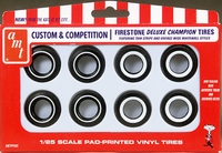 AMT Firestone Deluxe Champion Wide Whites and Narrow Whites Custom & Competition Parts Pack