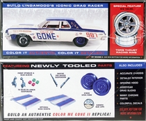 "AMT (Lindberg) Roger Lindamood ""Color Me Gone"" 1964 Dodge 330 2 Door Sedan Super Stock with New Parts"
