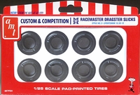 AMT M&H Racemaster 10.50 x 15 White Lettered Drag Slicks Custom & Competition Parts Pack