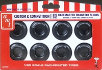 AMT M&H Racemaster 11.75 x 16 White Lettered Drag Slicks Custom & Competition Parts Pack