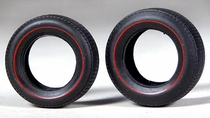 AMT Muscle Car Redline Tires, Four F60-15 and Four L60-15 Parts Pack
