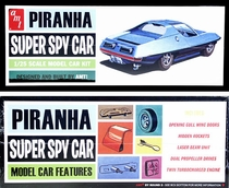 "AMT ""Piranha Super Spy Car"" (Reissue of ""Man From Uncle"" / ""Girl from Uncle"" Cars)"