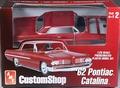 AMT Pre-Painted 1962 Pontiac Catalina Hardtop Custom, Shaded Silver-Red