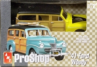 AMT Pre-Painted Yellow 1941 Ford Woody Station Wagon with Custom Wheels