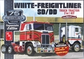 AMT White Freightliner SD Single-Drive or DD Dual-Drive Cabover Tractor