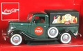Coca-Cola 1936 Ford Bache, Metallic Dark Green with Black Fenders and Rear Cover with Brown Interior