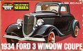 Life-Like 1934 Ford 3 Window Coupe, 1/32 Scale