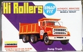 "Lindberg Approximately HO Scale ""Hi Rollers"" Ford Dump Truck, Molded in Red and Black"
