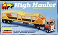 "Lindberg HO Scale ""High Hauler"" Ford CL-9000 Tractor with Car Carrier Trailer"