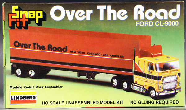 Over The Road Tractors : Lindberg ho scale over the road ford cl sleeper