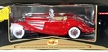 Maisto 1936 Mercedes-Benz 500 K Type Special Roadster, Red with Cream Interior