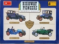 "Minicraft Highway Pioneers 1/32 Scale  1911 Rolls, 1913 Mercedes, 1914 Stutz Bearcat, 1915 Ford Model ""T"""