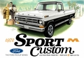 Moebius 1972 Ford F-100 Sport Custom 2WD Shortbed Pickup with 302 and Dual Exhaust