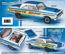 "Moebius ""Melrose Missile"" 1965 Plymouth Satellite Hardtop HEMI Super Stocker"