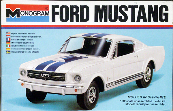 Monogram 1965 Ford Mustang, 1/32 Scale