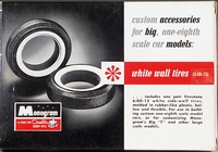 "Monogram Chrome Custom Accessories ""White Wall Tires"" Parts Pack, 1/8 Scale"