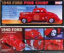 "MPC 1940 Ford Coupe ""Fire Chief"" – Snaps Together"
