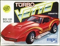 "MPC 1980 Corvette Stingray Coupe, Stock or ""Turbo Vette"" Custom, 1/20th Scale"