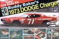 "MPC Buddy Baker #71 ""K&K Insurance"" '73 Dodge Charger, Big 1/16 Scale"