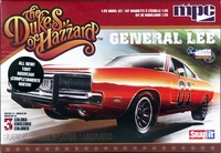 """MPC """"Dukes of Hazzard"""" """"General Lee"""" 1969 Dodge Charger - Snaps Together"""