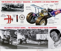 """MPC Tom """"Mongoose"""" McEwen 1972 """"Hot Wheels"""" Rear Engined Top Fuel Dragster"""