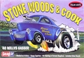 "Polar Lights ""Stone, Woods & Cook"" AA/GS 1940 Willys Coupe Gasser Caricature, Snaps Together"