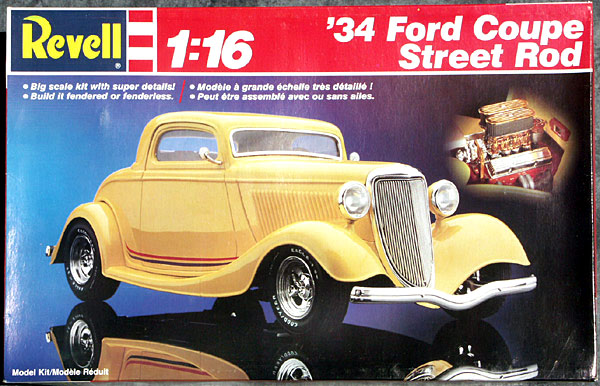 Revell 1 16 Scale 1934 Ford 3 Window Coupe Street Rod