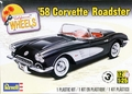 Revell 1958 Chevy Corvette, Stock or Mild Custom, with Opening Trunk and Optional Up-Top