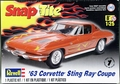 Revell 1963 Corvette Sting Ray Fastback Split Window Coupe, SnapTite