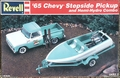Revell 1965 Chevy Stepside Pickup with Hemi Hydro Boat and Trailer