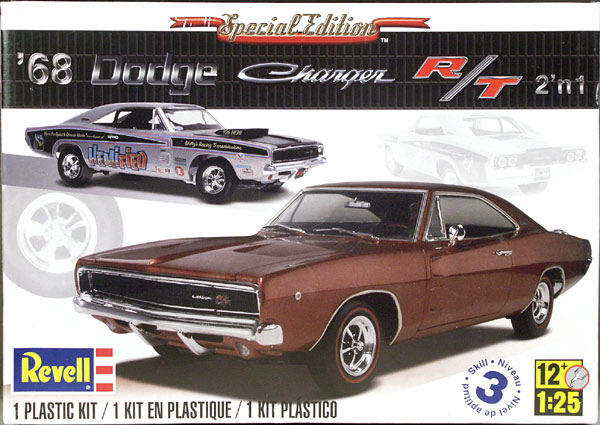 Revell 1968 Dodge Charger R T 440 Or 426 Hemi 2 N 1 Stock Or Vintage