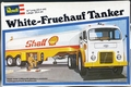 Revell Approximately 1/48 Scale White 1000 COE and Fruehauf Tanker Trailer with Shell and ESSO Decals