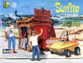 "Revell Ed Roth ""Surfite"" and Tiki Hut with Pre-Painted Resin Ed Roth Figure"