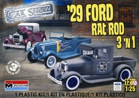 "Revell/Monogram 1929 Ford Model ""A"" Closed Cab or Roadster Pickup Rat Rod, 3 Building Options"