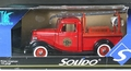 Solido 1936 Ford Pompier Pickup, Red with Brown Interior