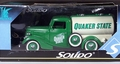 Solido 1936 Ford Quaker State Truck, Green with White Tank and Brown Interior