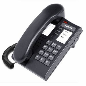 Aastra M8004 (Charcoal) Single-line telephone perfect for use in high traffic areas, Hotels, Hospitals, Universities, Lobbies