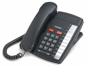 Aastra M9110 (Charcoal) Single-line phone, sleek design for areas of light use