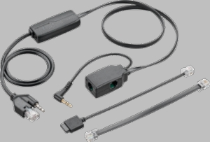 APA-23 Plantronics 38908-11 EHS Cable (Alcatel)  replaces APA-20 and APA-22 cables, features compatibility w/Plantronics On-line Indicator accessory.