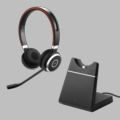 Jabra Evolve 65 Stereo Wireless BlueTooth Headset w/Charging Stand