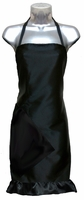 "Salon apron Black with Black Ruffle <alt=""salon apron"">"